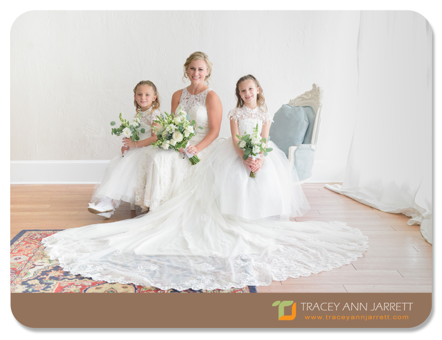 Bride with flower girls in the White Room St. Augustine
