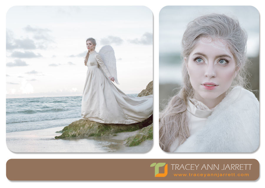lovely photo session of angel theme on deerfield beach
